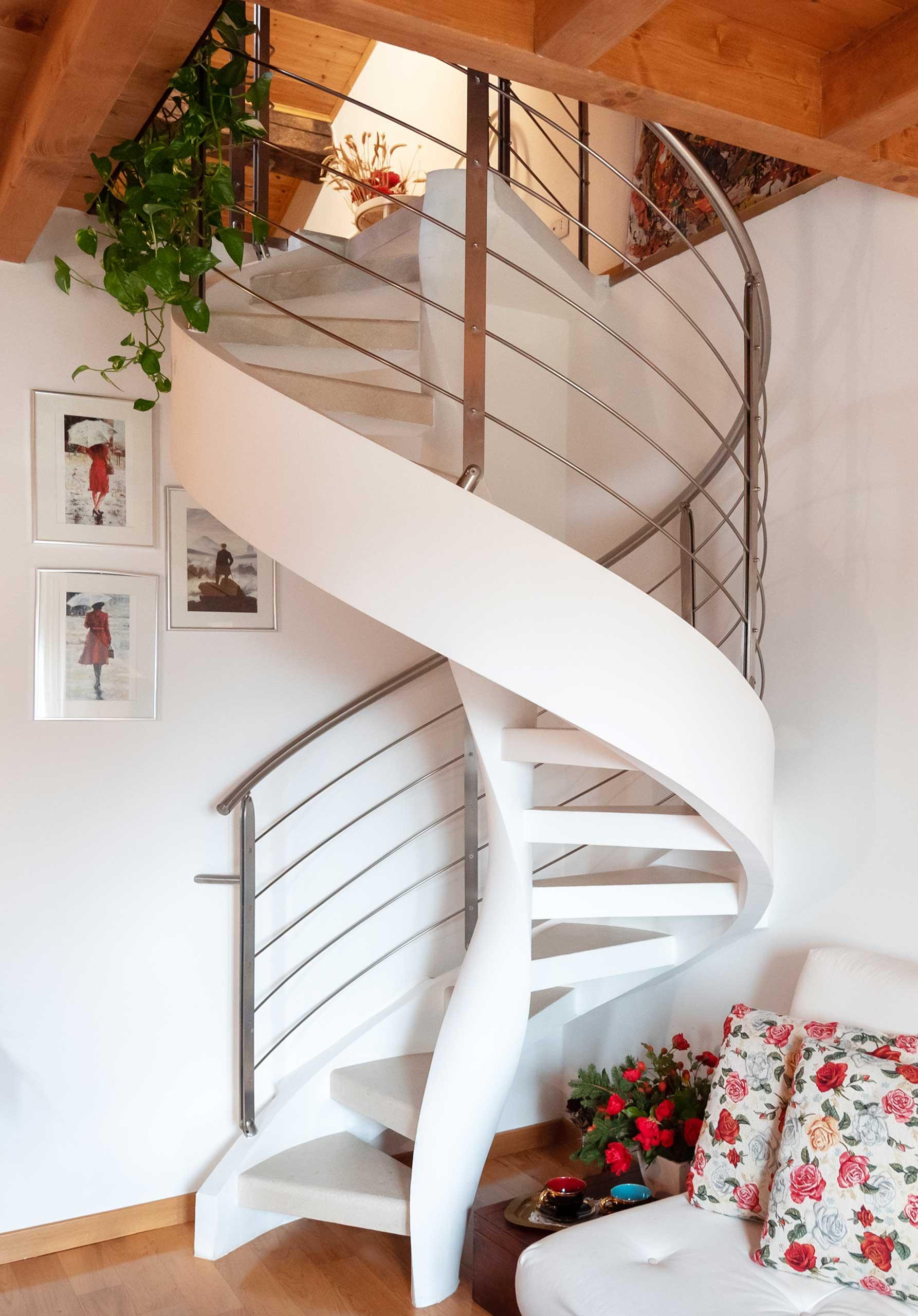 Construction et montage escaliers hélicoïdaux