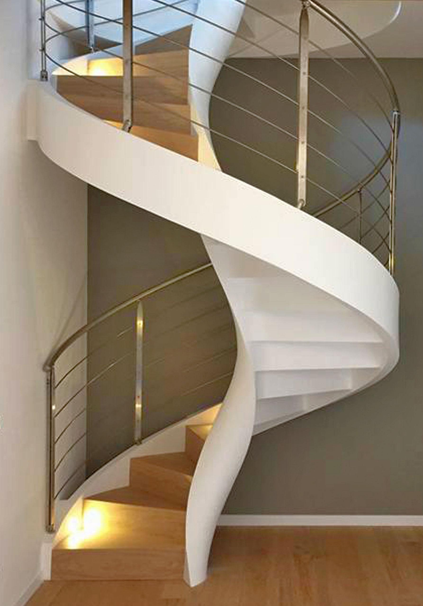Finitions pour escaliers hélicoïdaux