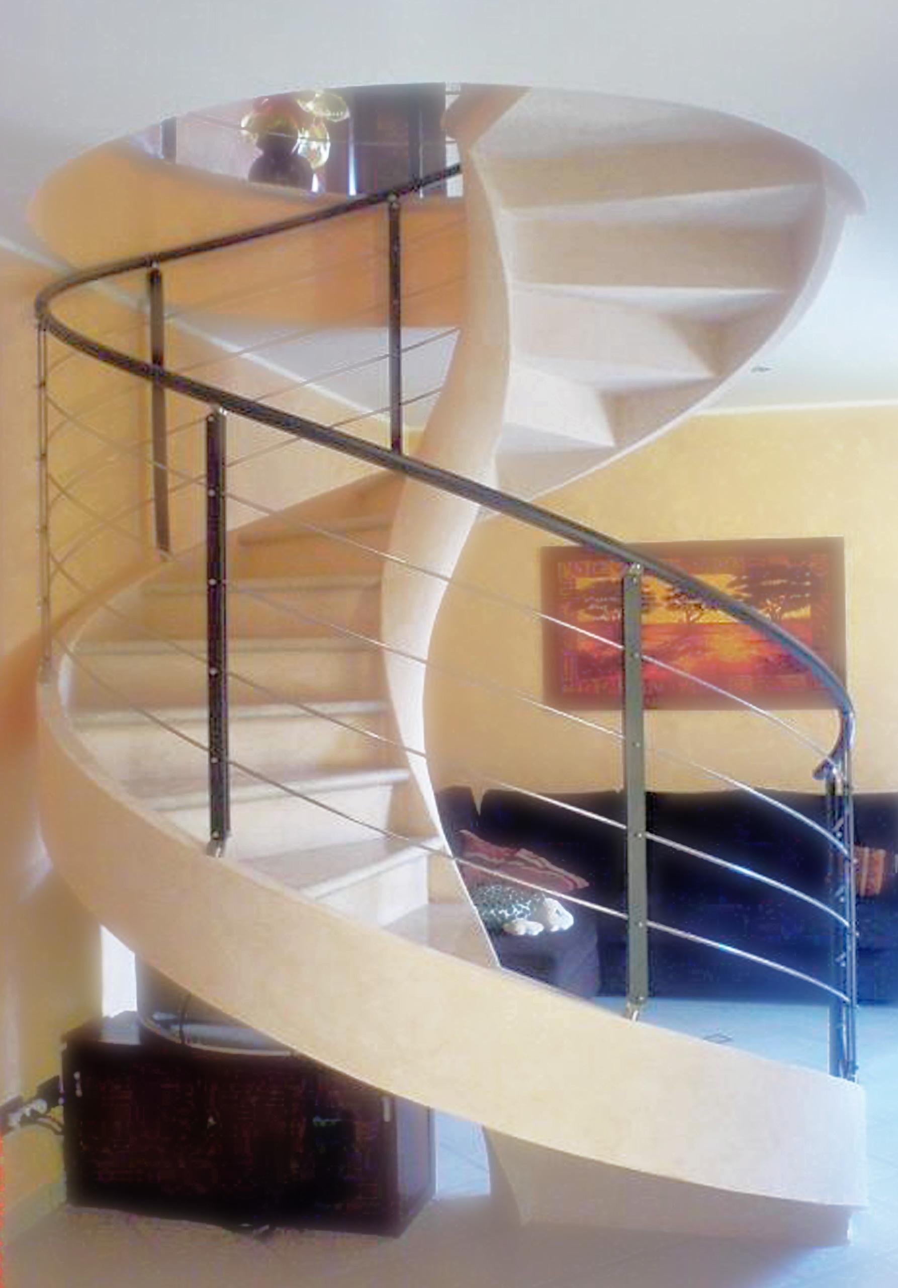 garde-corps escaliers hélicoïdaux