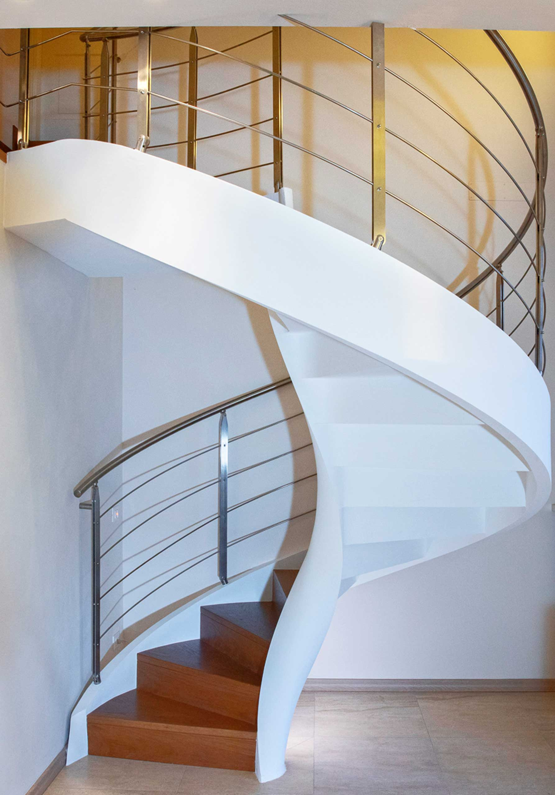 helical staircases railings